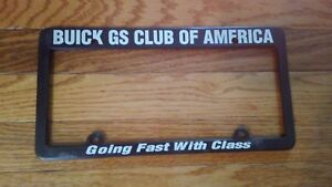 Buick Skylark, GS, GSX, Official GSCA  License Plate Frame.