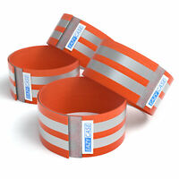 4x Leuchtarmband Reflektorband Joggen Sicherheitsarmband Kinder Soft Band Orange