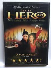 Hero (Dvd,2004,Widescreen) Jet Li,Great Shape! Usa!
