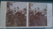STC409 Nu amateur fesse habillage nudisme nue nude STEREO Photography Stereoview