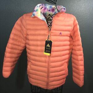 Burton Youth Flex Puffy Weatherproof Reversible Jacket, Peach and Paint, XL NWT