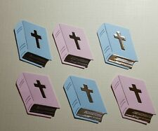 Luxury die cut bibles ready made card toppers christening x6
