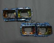 Pair Headlight Rectangular Bucket Housing for Nisan 720 Pickup