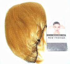 Comicon Cosplay Halloween Costume Short Hair Bob w/Mesh Wig Cap Yellow Blonde