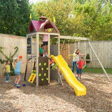 NEW KidKraft Summerhill Wooden Swing Set Playset Playground   Kids Outdoor Slide