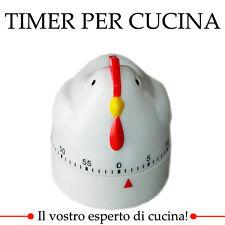 OROLOGIO TIMER ANALOGICO DA CUCINA A FORMA DI GALLO 60 MINUTI UTENSILE TEMPO