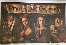 PIRATES OF THE CARIBBEAN, POSTER,BLACK PEARL,HUGE ORIG.MOVIE THEATER BANNER 2003