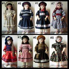 robe poupée ancienne SFBJ Jumeau Kestner Halbig Heubach dress antique doll