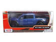 2017 Ford F-150 Raptor Pickup Truck Die-cast 1:27 Motormax 8 inch Blue 1:24
