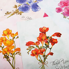 4set Beautiful Flowers Bloom Letter - 16sh Writing Stationery Paper 8sh Envelope