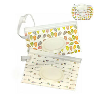 Portable Box Wet Wipes Box Easy-carry Clamshell Wipes Container baby wipes case
