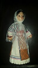 Ethnic Folk Costume Doll with jar Embroidery