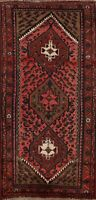 Vintage Tribal Hamedan Traditional Hand-knotted Geometric Area Rug 3'x6' Carpet