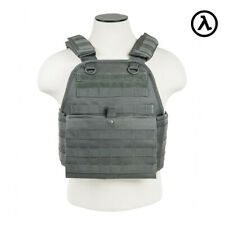 NCSTAR PLATE CARRIER VEST TACTICAL GEAR / URBAN GREY CVPCV2924U - [MED-2XL]