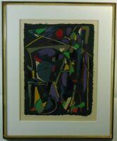 """André Lanskoy """"Komposition von 1968"""" Große Farblithografie, EA, signiert,datiert"""
