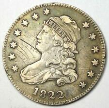 1822 Capped Bust Quarter 25C - VF / XF Details - Rare Early Date Coin!