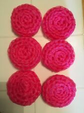 6 Hot Pink ---- NYLON NET POT SCRUBBIES