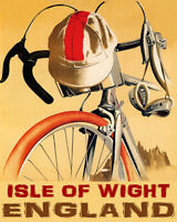 POSTER BICYCLE BIKE RIDE ISLE OF WIGHT ENGLAND CYCLING VINTAGE REPRO FREE S/H
