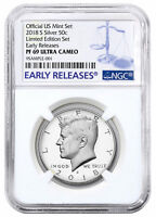 2018-S Silver Proof Kennedy Half Dollar Limited Edition NGC PF69 UC ER SKU55960