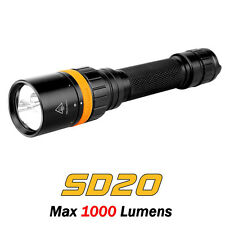 Fenix SD20 Scuba Diving Light 1000lms Magnetic Ring Control LED Flashlight Torch