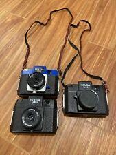 Lot of 3 Vintage Holga 120 Cameras - Model S, N, and GN