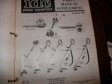 IDC,ryobi,ryan out door equipment dealer manual binder,weedeater,leaf blower