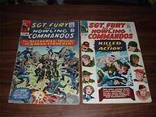 Sgt. Fury 14-42-----lot of 14 comic books