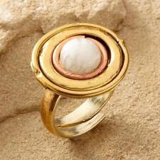 New Tara Mesa Moonstone Medallion Ring ~ Size 7 Adjustable