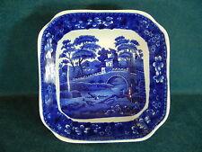 "Copeland Spode Blue Tower Vintage Unusual 7 3/4"" Square Serving Bowl"