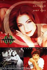 Gloria Estefan 1993 Christmas Through Your Eyes Original Promo Poster