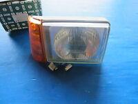 Optique de phare droit avec clignotant ambré Forés pour Fiat Panda ->12/82