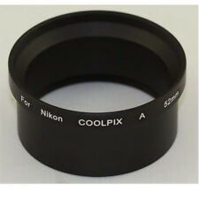 Metal Adapter Tube for Nikon Coolpix A 52mm lenses & filter lens NEW