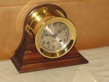 Chelsea Vintage Ships Bell Clock~4 1/2 In Dial~1961~Restored