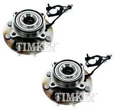 Pair Set 2 Front Timken Wheel Bearing And Hub Kits for Chevrolet GMC 08-10 RWD