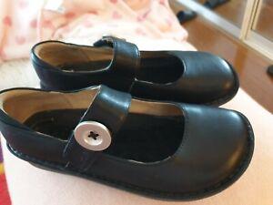 Alegria size 37 black leather Mary Jane  wedge heel shoe