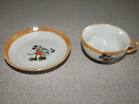 Disney Enterprises - Mickey Mouse 1930 Child's Lusterware Tea Set - Cup & Saucer