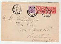STORIA POSTALE - 1928 REGNO 3 VALORI SU LETTERA DIRETTA IN USA E/1874