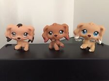 3 Littlest Pet Shop Cocker Spaniels Puppy Dogs  #575 #716 #748  Very Cute