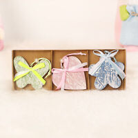 3Pcs Wood Rabbit Pendant Easter Bunny Home Party Decorative Hanging Ornament  My