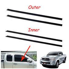 Door Belt WeatherStrip Rubber Seal Pair Fit Toyota Hilux Vigo MK6 S/ Cab 05-12