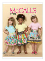 McCall's Sewing Pattern Child Patchwork Skirts - Age 7 TO 14 - M7312-CHJ
