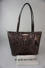 Authentic Brahmin Medium Asher Plum Melbourne Leather Tote----NWT $285