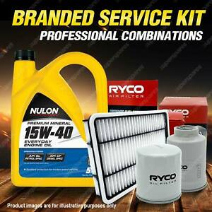 Oil Air Fuel Filter + 5L PM15W40 Service Kit for Nissan Pulsar N16 Ti 4cyl 1.8L