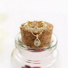 1 PC Fashion Women Ear Cuff Wrap Rhinestone Crystal Clip On Earring Jewelry
