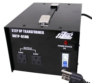 USA to AUS 500w Step Up Transformer. Run your Australian devices in the USA
