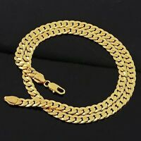 """Charms Necklace 18k Yellow Gold Filled Men's Chain 24"""" Link Fashion Jewelry NEW"""