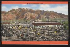 Postcard OGDEN UTAH Stock Yard View 1940's