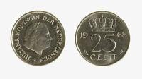 s1546_214) Netherlands   - 25 Cent 1968