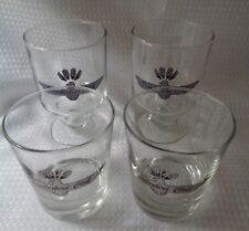 4 Thunderbird Club Glasses Tumblers pedestals & high ball 1979 1981 vintage