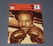 FICHE BOXE BOXING EZZARD CHARLES POIDS LOURDS 1949